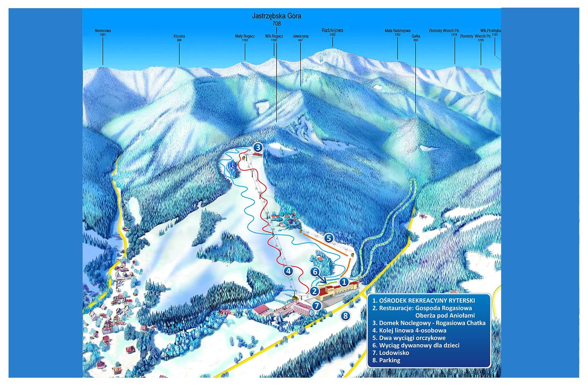 Trasa narciarska RyterSKI - Ryterskiraj - Rytro - Stok narciarski - Trasa -